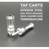 No Leaking TAF Cartridges Universal Screw  1.2mm Oil Intake Hole Round Mouthpiece